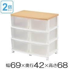 storage case em deep stocker topped smoked na 2 pieces set closets closet storage box