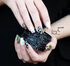 Funky Mix & Match WAH Style Nail Art - Lucy's Stash