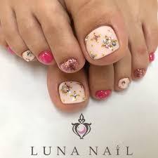ピンクフットネイル Luna Nailルナネイルのネイルデザイン ネイル
