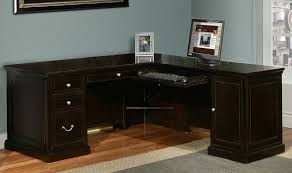 home office shaped. image of black l shaped office desk home