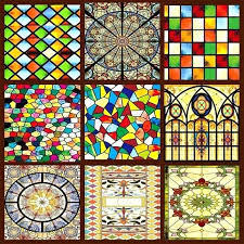 detail window stained glass s6868762 faux stained glass sidelight window