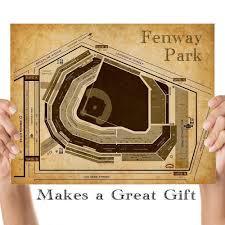 Fenway Park Baseball Seating Chart 11x14 Unframed Art Print Great Sports Bar Decor And Gift Under 15 For Baseball Fans