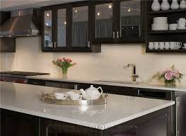 pure white quartz kitchen countertop easy to clean and resistant to stains heat and scratches