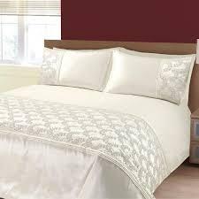shimmer sequin diamante whitesilver duvet quilt cover set bed