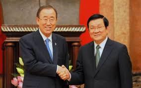 Kết quả hình ảnh cho Ban Ki-moon ghé thăm VN