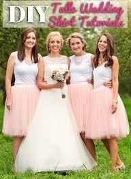 diy tulle wedding skirt tutorials girldaily com