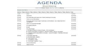 Agenda Format Sample Sample Professional Business Meeting Agenda Format