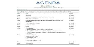 Business Agenda Sample Professional Business Meeting Agenda Format