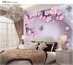 Elegant Cheap Sales Super 3D Simple And Stylish Bedroom Living Room TV Background  Peach Blossom Wallpaper Wallpaper Wall Covering Mural In Wallpapers From  Home ...