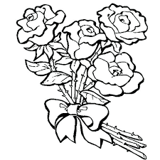 roses coloring pages 2 flower coloring page