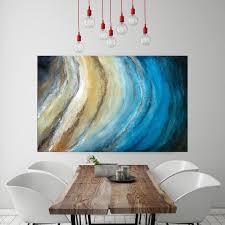 gold wall art blue canvas art