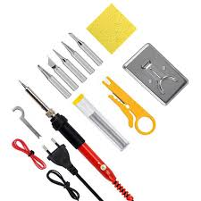 jcd 220v 110v 60w adjustable soldering iron kit including soldering iron tips solder wire and stand perfect for diy malaysia