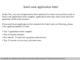 hotel cook application letter in this file you can ref application letter materials for hotel cook cover letter