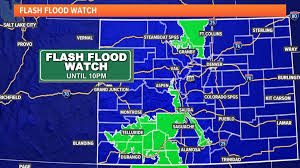 National weather service has issued a tropical storm watch and a flash flood watch for parts of central louisiana. Flash Flood Watch For East Troublesome Cameron Peak Burn Scars 9news Com