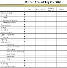 Kitchen Renovation List Home Remodeling Planner Cetun Co