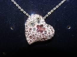 swarovski alana pink heart pendant
