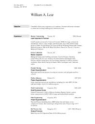 Resume Sample For Construction Worker Free Resumes Tips