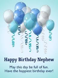 Have The Happiest Birthday Birthday Balloon Card For Nephew Delectable Nephew Quotes Pineinterest