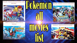 Pokemon all movies list |