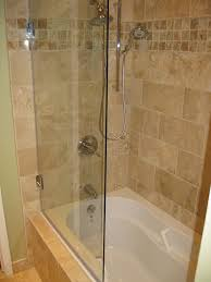 bathroom half glass shower door land design reference in for in half glass shower door for bathtub decorating