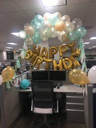 office birthday decorations. mint green and gold desk birthday decorations office r