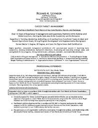 building a resume for a management position resume templates for management positions