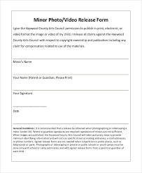 Photo Release Form Template 9 Free Pdf Documents Download