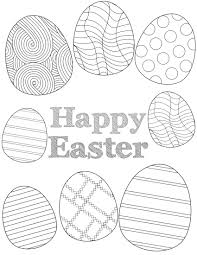Free easter printables to use for crafts and fun easter activities. Free Printable Easter Coloring Sheets Paper Trail Design