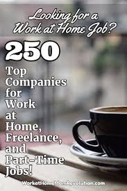 250 Companies Hiring Work At Home Part Time And Freelance