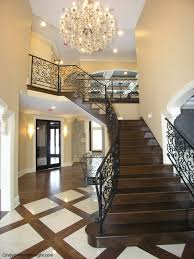 2 story foyer chandelier. 2 Story Foyer With Curved Iron Railings And Wooden Staircse, Arches, Crystal Chandelier In Burr Ridge IL By TheEISgroup.com R