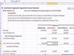 Management Accounting 6a Segmented Income Statement Youtube