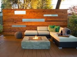 furniture deck. Modern Deck With Furniture And Square Fire Pit : Warmth Your Outdoor Space A