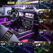 Amazon Car Lights Car Led Strip Light Music Rgb Neon Accent Lights 5 In 1 With 6 Meters 236 22 Inches Interior Decor Atmosphere Strip Lamp Sound Induction Active