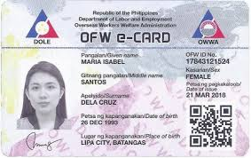 E-card Ofw Rolls Ph Out Government New