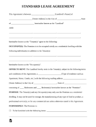 Free Printable Lease Agreement For Renting A House Basic Rental Agreement In A Word Document For Free