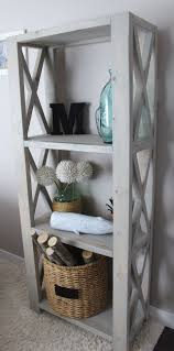Rustic Triple X BookShelf | Do It Yourself Home Projects from Ana White  They used