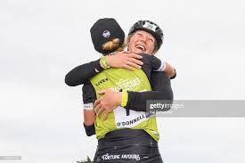Corrine O'Donnell of New Zealand is congratulated by Alison Wilson of...  News Photo - Getty Images