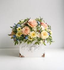 mother s day flowers vintage rose box