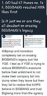 1 Gd Had 47 Itunes No 1s 2 Bigbang Reached 200 Likes First