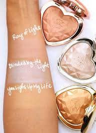 Too Faced You Light Up My Life Swatch The New Too Faced Love Light Prismatic Highlighters In Ray