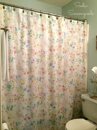 vintage bed sheet diy shower curtain, bathroom ideas, crafts, how to,  repurposing
