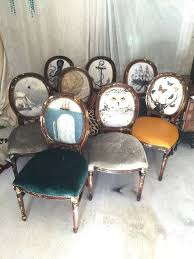 french chair upholstery ideas. eclectic set of dining chairs upholstered with velvet and leather on french louis xvi accent side chair upholstery ideas i