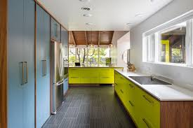 mid century modern galley kitchen. Drummond 7835 Mid Century Modern Galley Kitchen O