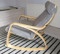 rocking chair ikea poang with sheepskin cover in winchester poang cover