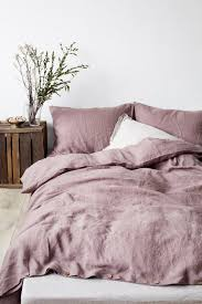 the best linen bedding dusty pink
