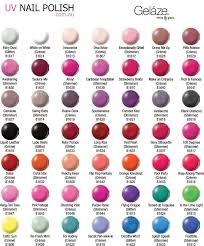 Glaze Color Chart China Glaze Nail Polish Color Chart Nails Gallery
