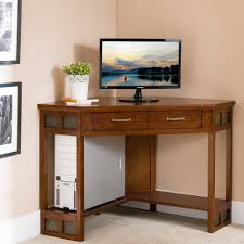 image corner computer. Leick Furniture Rustic Oak \u0026 Slate Corner Computer/Writing Desk - Free Shipping Today Overstock 23999132 Image Computer C