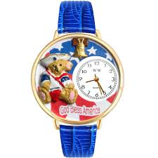 patriotic teddy bear watch w personalized miniature gifts