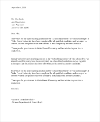 11 Candidate Rejection Letter Sample Ideas Of Regret Letter Sample