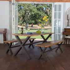 Industrial Style Dining Room Tables Wonderful Dining Room Table Bench Rectangle Shape Industrial Style